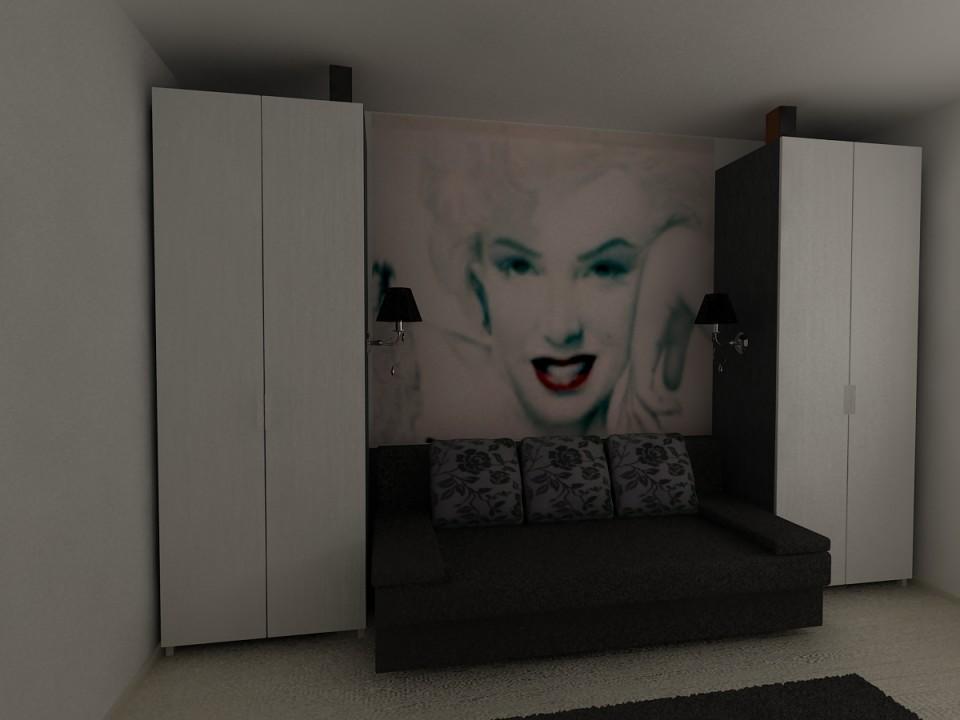 dormitor cu canapea C2