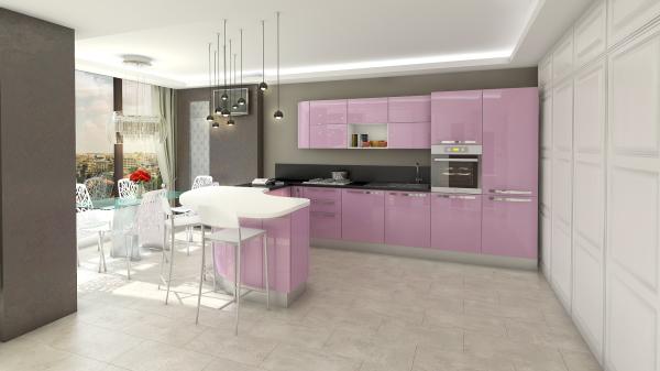 Bucatarie Design Interior Apartament Craiova