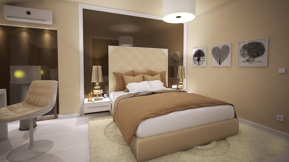 Dormitor pat Design Interior Apartament Craiova